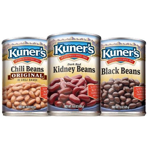 picture about Chili Printable Coupons named Beans Veggies Discount codes Kuners Food stuff Coupon codes